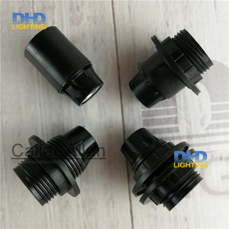 2pcs/10pcs Free shipping bakelite <font><b>sockets</b></font> plastic <font><b>E12</b></font> UL lamp holders 110V/220V half screw pendant lamp <font><b>socket</b></font> with shade ring image