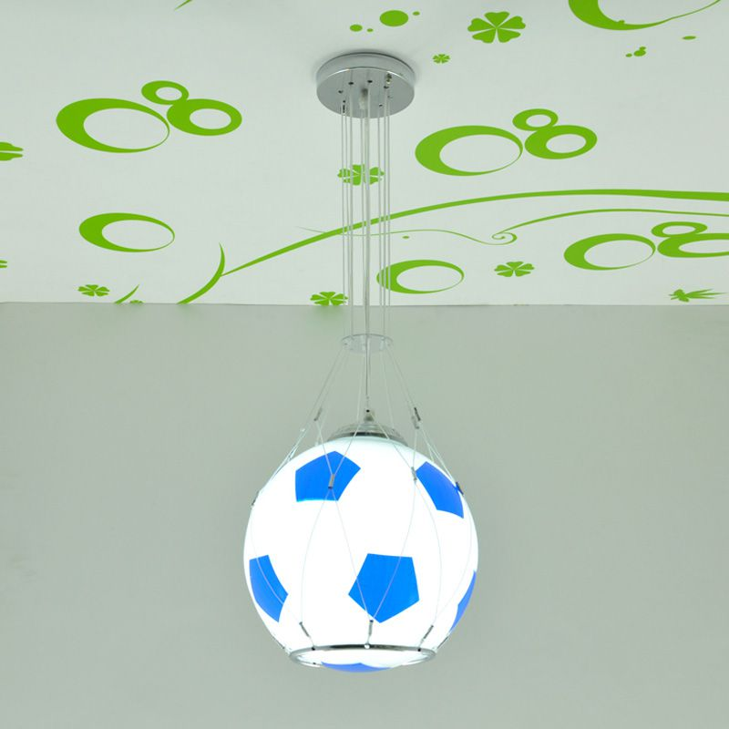 Football moderne basket enfants chambre pendentif lumières créatif dessin animé enfant chambre lampe garçons chambre pendentif lumière - 3