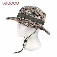 Vessos Outdoor Hiking Fishing Hunting Camo Boonie Bucket Hat Tactical Army Military Jungle Bush Summer Sun Camouflage Caps