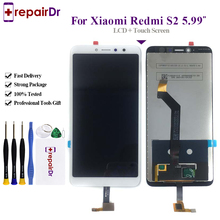 100% Tested Original 5.99 inch Black/White For Xiaomi Redmi S2 LCD Display + Touch Screen Digitizer Assembly Replacement S2 Lcd все цены