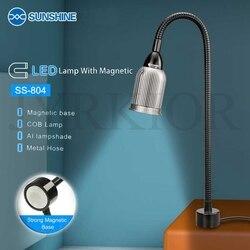 Sunshine SS-804 Magnetic Light Lamp Magnetisch geadsorbeerd base COB lont Lamp Aluminium lampenkap Werkbank Lamp Cleanroom Lamp