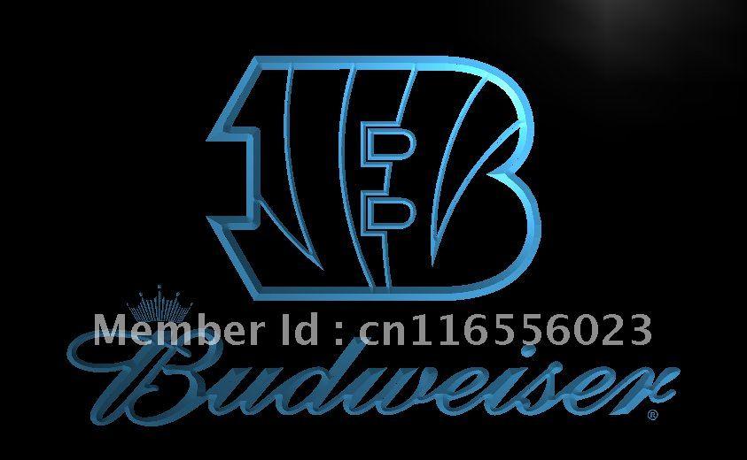 ld272 cincinnati bengals budweiser led neon light sign home decor shop craftschina - Home Decor Cincinnati