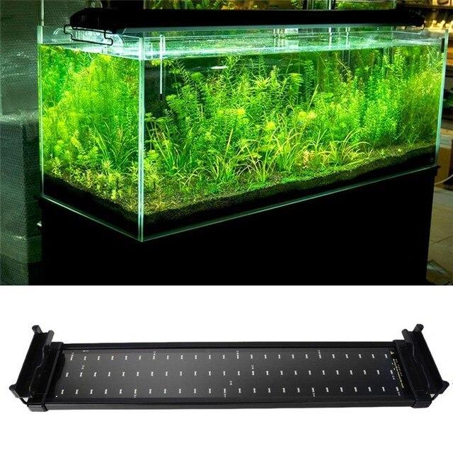 Acuario Iluminación LED 50 cm 68 cm extensible Marcos lámpara SMD 72 ...