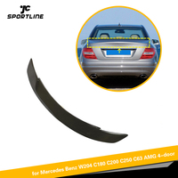 Carbon Fiber Rear Trunk Spoiler for Mercedes Benz C Class W204 4 Door Sedan 2007 2013 Rear Wing Spoiler Boot Lid