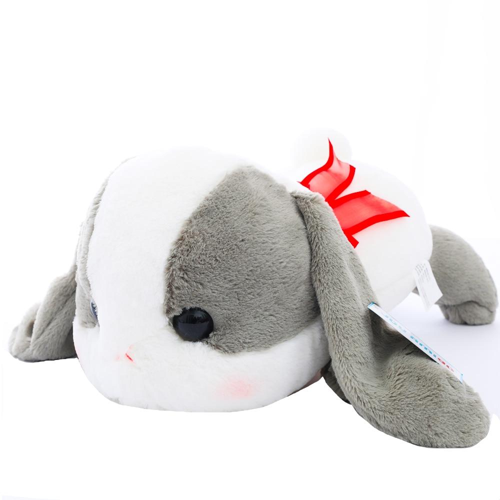Super Jumbo Sleepy Tsumikko AMUSE Pote Usa Loppy Cuddly nyuszi nagyfejű bolyhos nyúl plüss játékkal párnázó párnával.