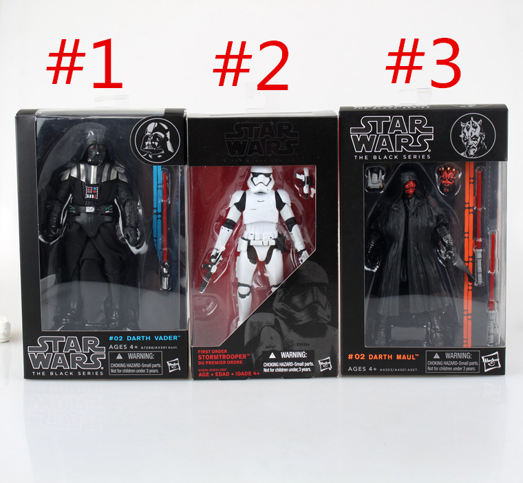 все цены на  SAINTGI Star Wars Black Series Darth Maul Han Solo Darth Vader Stormtrooper Boba Captain Action Figure Figures Model Toys Kids  онлайн