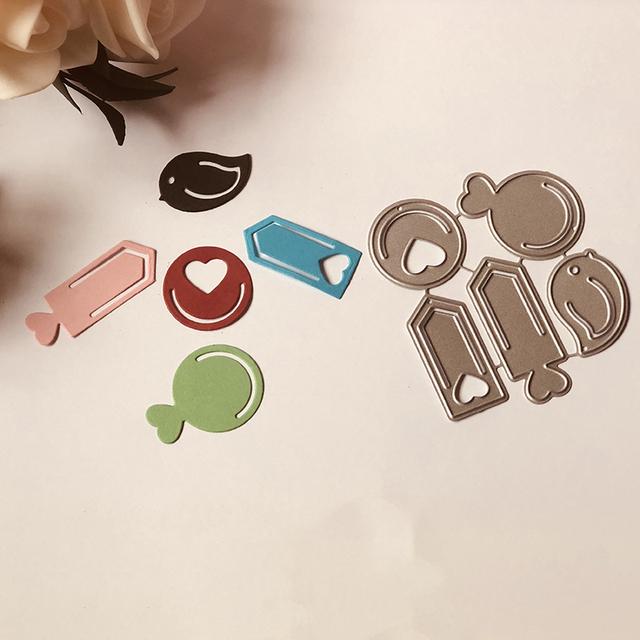 Mini Metal Cutting Dies for DIY Scrapbooking 5 pcs Set