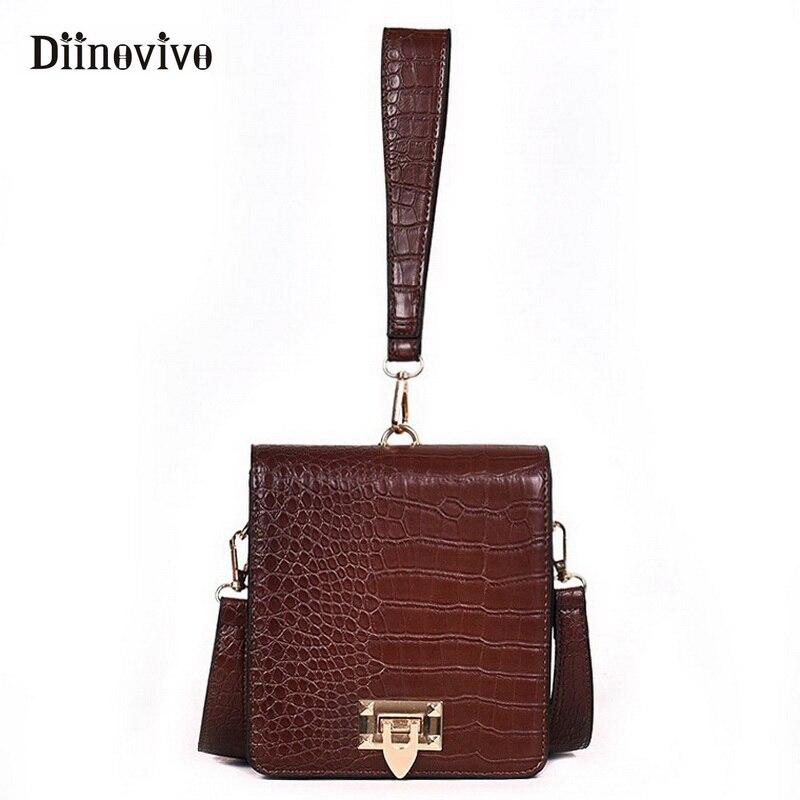 DIINOVIVO Fashion Alligator Female Handbags Designer Crossbody Bags for Women Small Square Bag Shoulder Messenger Purse WHDV0917 1
