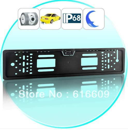 CCD HD License Plate Frame Car Rear View Camera for All European Cars EU car number frame backup camera