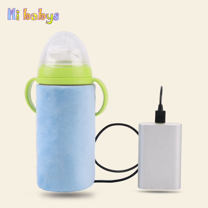 USB Baby Bottle Warmer Portable Milk Travel Cup Warmer Heater Infant Feeding Bottle Bag Storage Cover Insulation Thermostat