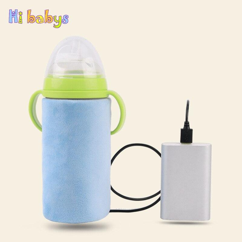 USB Baby Flasche Wärmer Tragbare Milch Reise Tasse Wärmer Heizung Infant Fütterung Flasche Tasche Lagerung Abdeckung Isolierung Thermostat