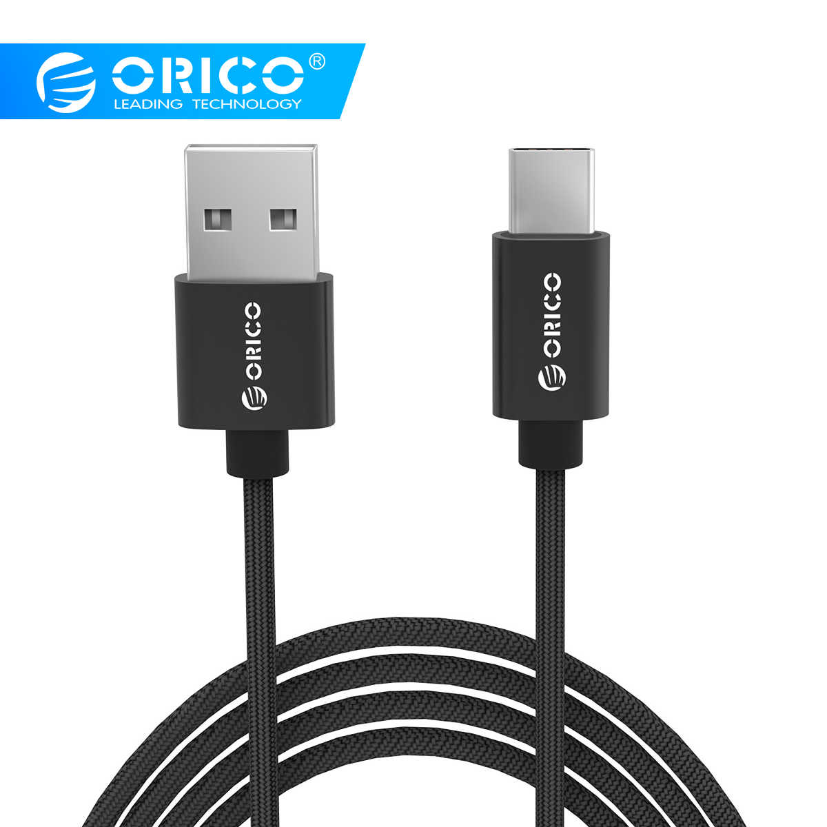ORICO USB Cable For Samsung S8 USB Type C Charger Cable For Huawei Mate9 10 P9 10 Xiaomi Mobile Phone Cable 3A Type-C Cable