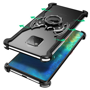 Image 2 - Металлический чехол OATSBASF в форме летучей мыши для Huawei p30, чехол 6,1 дюйма, индивидуальный металлический бампер с подушкой безопасности для Huawei P30 Pro 6,47 дюйма