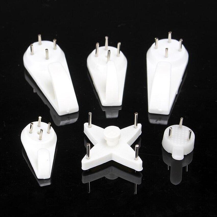 5 типов белый Пластик Невидимый настенное крепление фото фоторамка гвоздя крючок вешалка легко исправить без следа