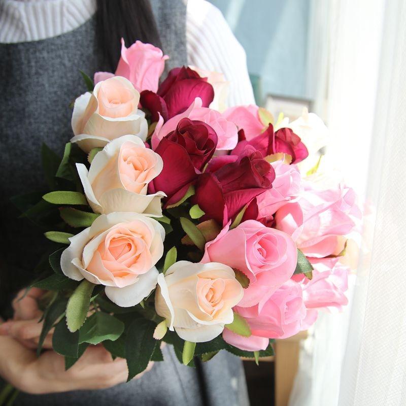Buatan Bunga Anggrek Bridal Buket Pesta Pernikahan Panjang Mawar Dekorasi Rumah Musim Semi Dekorasi Buatan Bunga Kering Aliexpress