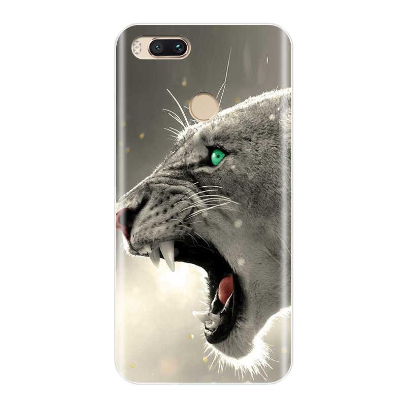 電話ケースシャオ mi mi A1 mi 5 mi 5X mi i5S mi 6 mi 6X mi 8 ソフトシリコーンかわいい猫カバーシャオ mi mi 5 5 × 5S 6 6 × 8 Se ケース