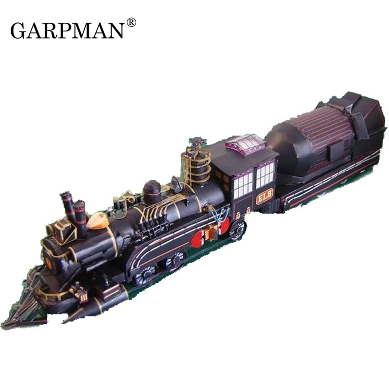 "The Doctor's Train Paper Model In The Movie ""back To The Future"" Papercraft Handmade Toy"