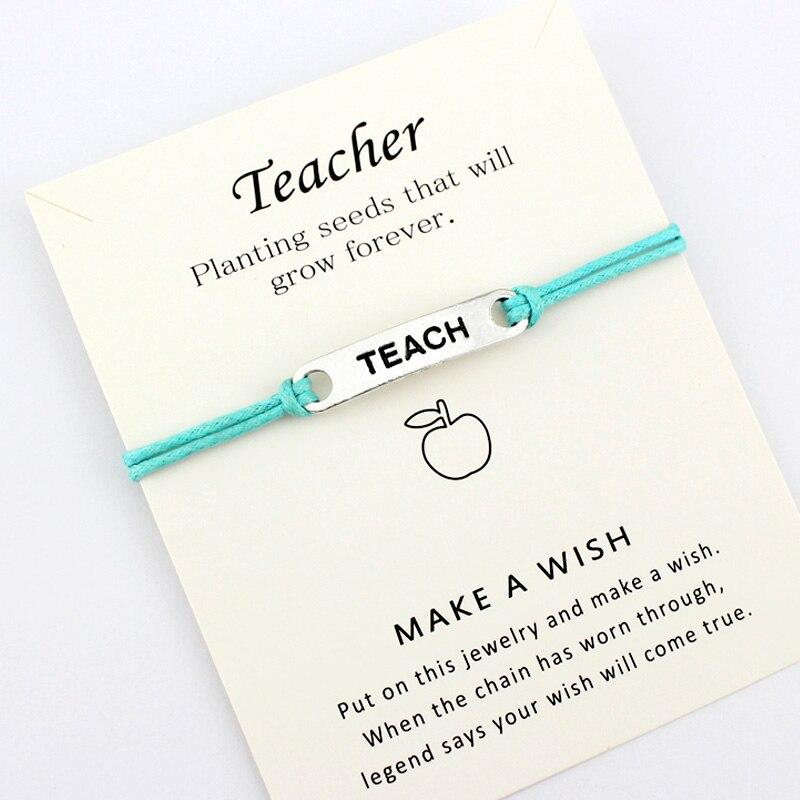 Ensinar apple professor pulseira jóias hortelã azul vermelho cores mulheres unisex transporte da gota