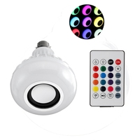 Best Promotion LED Lamp Bulb B22 12W Colorful RGB Wireless Bluetooth Speaker Music Smart Home LED
