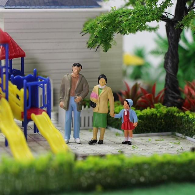 20pcs All Standing O Scale 1:43 Painted Figures Passengers Delicate People Miniature Train Layout P4306 5
