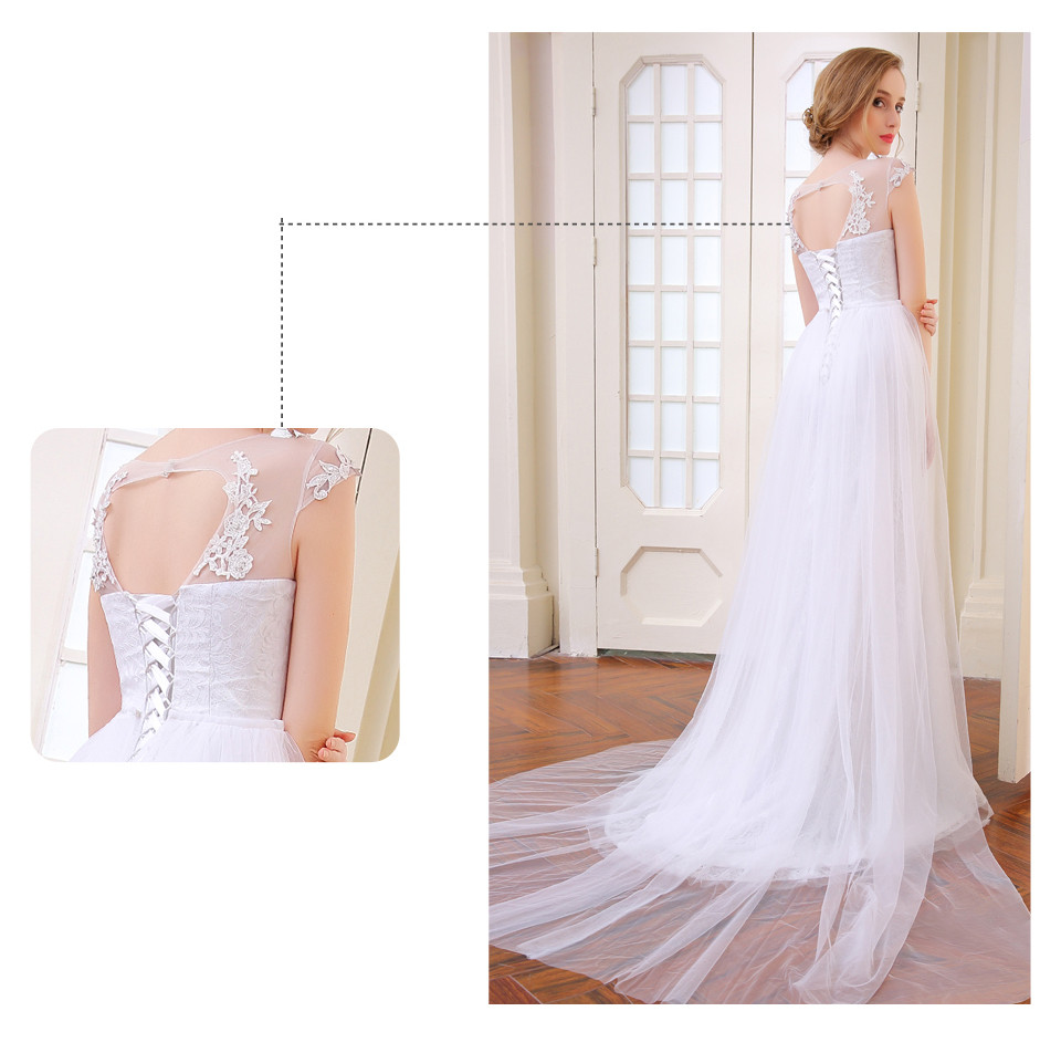 Elegant Mermaid Wedding Dress Removable Skirt With A Train And Lace Back 2