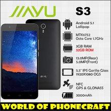Nueva Jiayu S3 S3A 32 GB Versión mtk6752 Octa Core 1.7 Ghz 3 GB de Ram 32 GB Rom Dual SIM GPS 3000 mAh 13MP 4G LTE TDD FDD smartphone