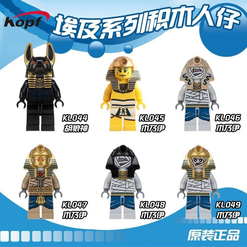 Single Sale Super Heroes Medievale De Pharaon Egyptien Unique Vente Atlantis Mummy Warrior Building Blocks Kids Gift Toys KL9006