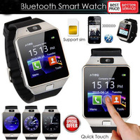 100 Pcs Bluetooth Smart Watch Smartwatch DZ09 Android Phone Call Relogio 2G SIM TF Card Camera for iPhone Samsung Huawei GT08 A1