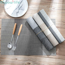Table Mat Cushion PVC Non-Slip Heat Insulation European-Style Wash-Free Environmental Protection Dishes Western
