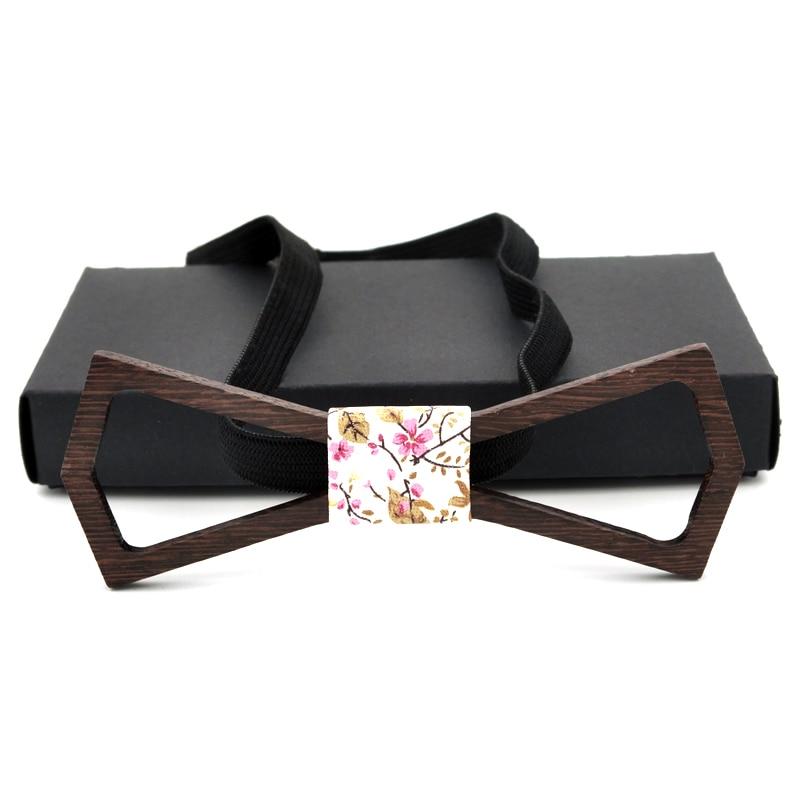 Ricnais New Arrivel Herren Holzfliege Luxus Hohl Design Bowties - Bekleidungszubehör - Foto 3
