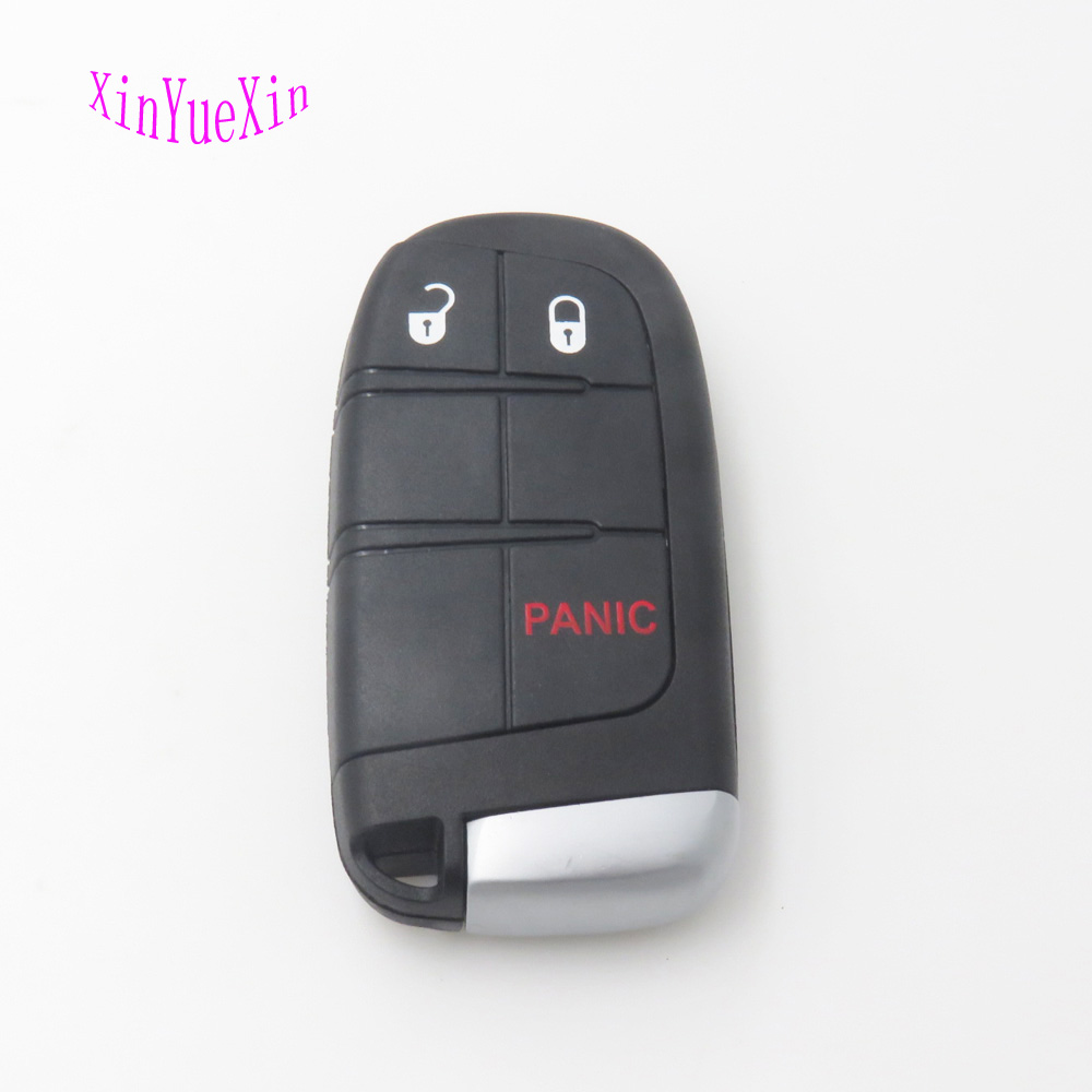 Xinyuexin Remoto Inteligente Caso Chave Do Carro Cobertura FOB Para Chrysler 300 para Dodge Durango Para Jeep Grand Cherokee 3 Botão SHELL Chave Em Branco