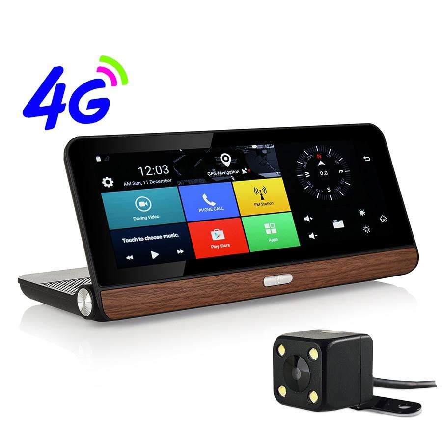 Otstrive 8 pouce 4g Bluetooth WiFi Android 5.1 GPS Navigation Full HD 1080 p DVR 1g RAM 16g Vue Arrière Double Caméra Appel Téléphonique GPS