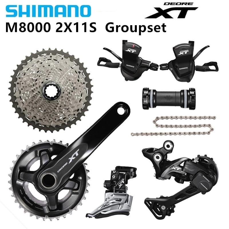 Kit vélo groupe Shimano DEORE XT M8000 2x11 22 S vitesse 38/28 T 36/26 T 170/175mm 11-40/42/46 T vtt VTT