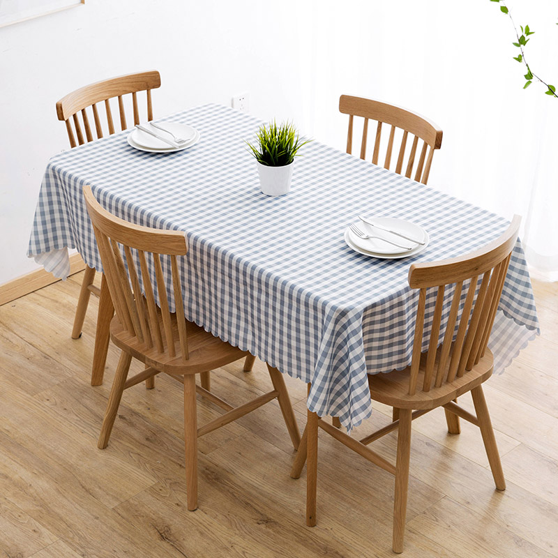 Vanzlife Plaid waterproof table cloth living room disposable restaurant tablecloth rectangular coffee table mat