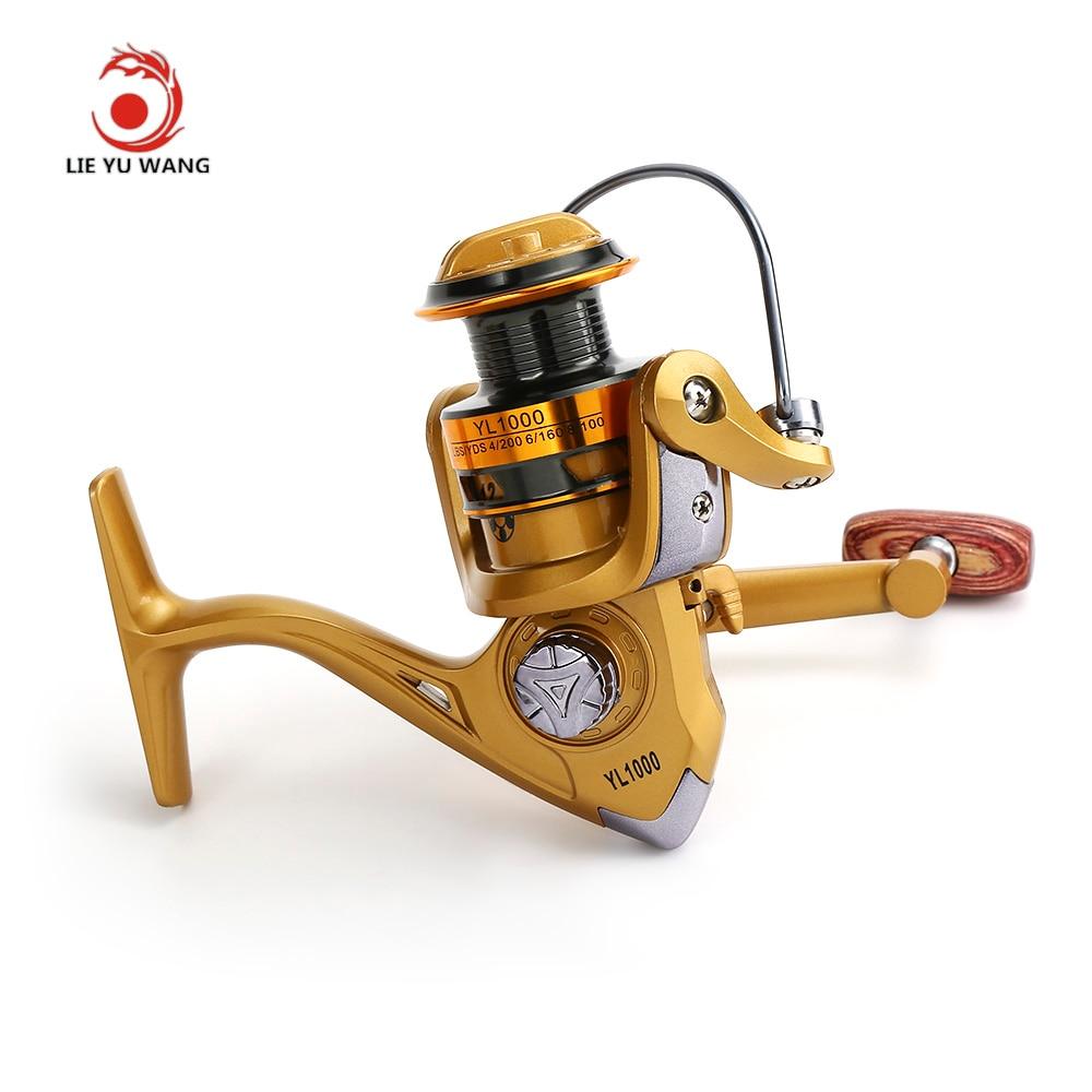 lieyuwang 12bb brand spinning fishing reel gold disk drag wheel aluminum alloy saltwater fishing spinning reel