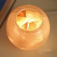 ANTINIYA NEW Himalayan salt lamp rose salt European bedroom LED bedside lamp warm dimmable night light table lamp