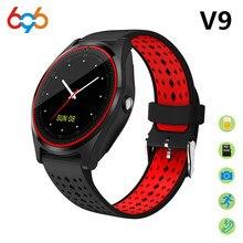Купить онлайн 696 Смарт часы V9 Поддержка 2 г sim-карта TF Камера Спорт Здоровье MP3 Музыка Часы мужские и женские SmartWatch для android и IOS PK dz09 V8 Y1