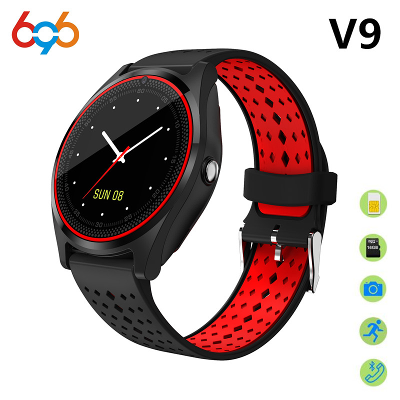 696 Smart Watch V9 Support 2G SIM TF card Camera Sport Health MP3 music Clock men women Smartwatch For Android&IOS PK DZ09 V8 Y1