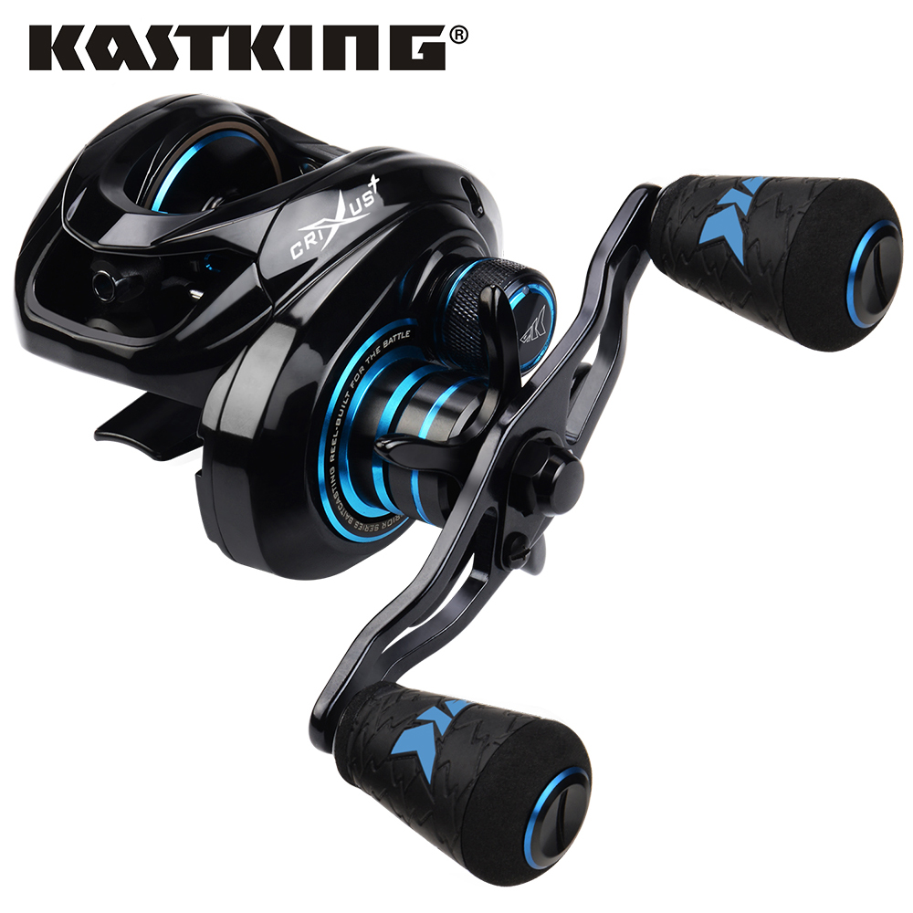 KastKing Crixus Light Weight Baitcasting Fishing Reels 8KG Max Drag 6.5:1 / 7.2:1 Gear Ratio 5+1BBs 7+1BBs with 8 Magnetic Brake