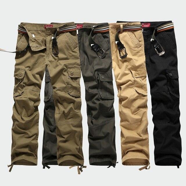2017 Весенние Случайные штаны Плюс размер 30-44 мужская военная Карман грузов брюки мужчины камуфляж армии sweatpant