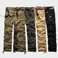 2017 Primavera pantalones Casuales Más El tamaño 30-44 cargas de Bolsillo pantalones de los hombres de camuflaje del ejército militar hombres sweatpant
