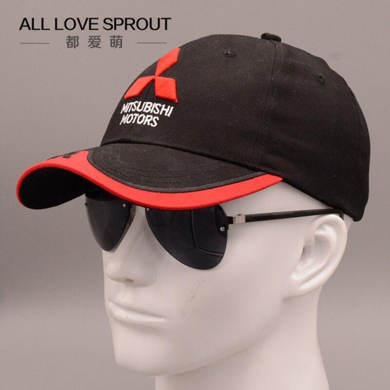Prix pour 2016-2017 NOUVEAU 3D Mitsubishi chapeau cap voiture logo moto gp moto racing casquette de baseball chapeau réglable casual trucket chapeau