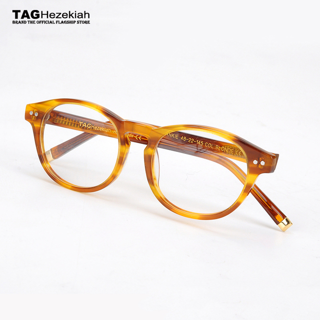 6fe749a6f1a 2017 TAG Hezekiah Vintage Retro Eyeglasses Frame Men Women Myopia  Prescription Optic Glasses Frame With Clear Lens oculos de gra