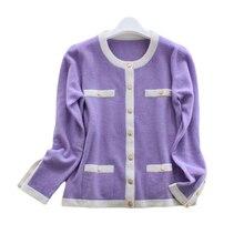 knit cardigan long-sleeved jacket