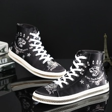 Fall 2016 men high shoes fashion men's high-top boots Korean version of casual men's boots trendy leac up