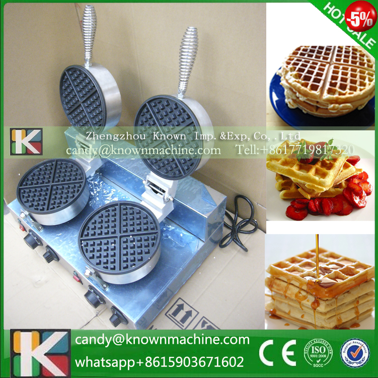 Free shipping waffle machine with 2 heads