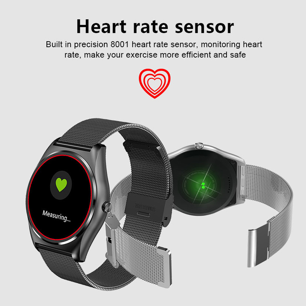 Smart Wrist Watch Bluetooth Fashion N3 Fashion New Camera Heart Rate Pedometer Calculates Walking Distance For Android iOS BFOF new lf17 smart watch