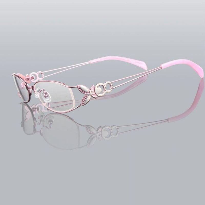 Kupu-kupu Paduan Elegan Wanita Kacamata Bingkai Kacamata Vintage Yang - Aksesori pakaian - Foto 6