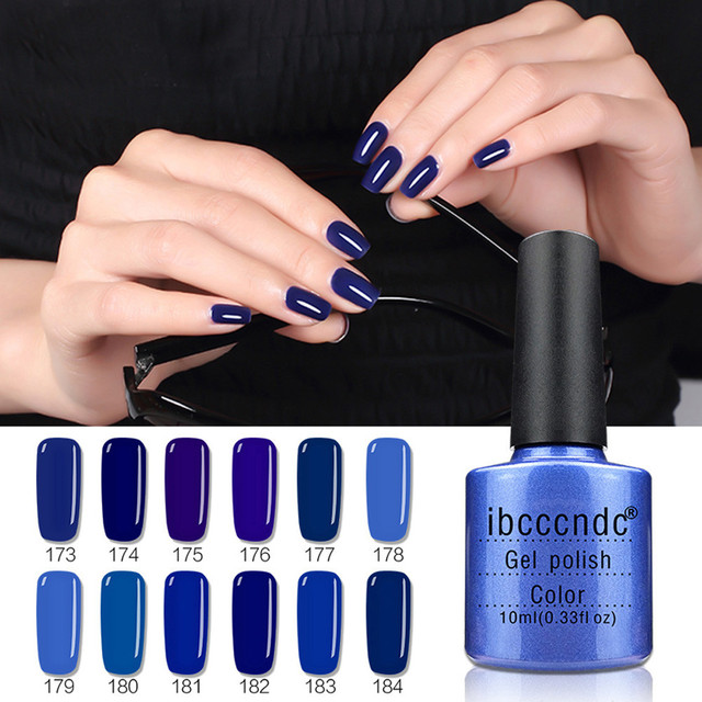 Health And Beauty Design Manicure Dark Blue Color Women 10ml Gel