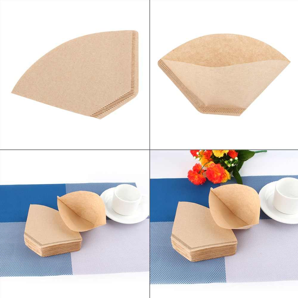 100pcs/Set Coffee Filters Serving Paper for Coffee Machine Filter Paper Unbleached Coffee Cones Cups Cake Cup Coffee Paper Bowl